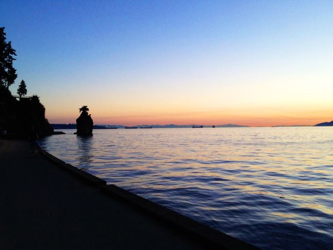 The sunset from Vancouver's seawall