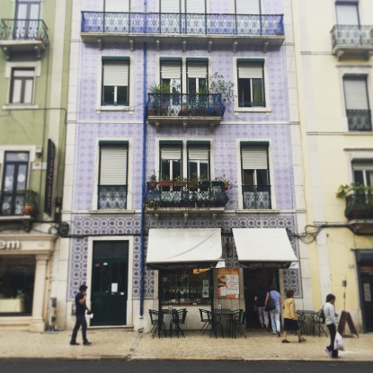 Ceramic tiled house in Lisbon, Portugal