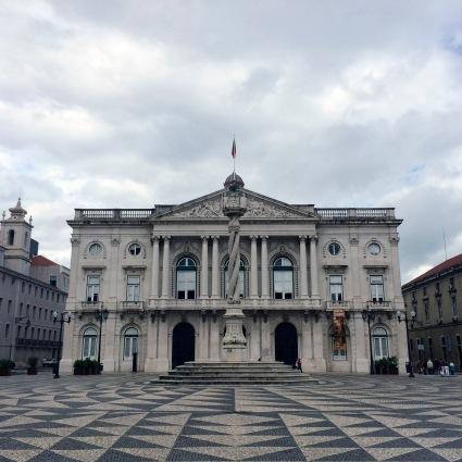 Municipio Square in Lisbon, Portugal