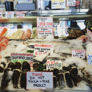 Seafood in Seattle Public Market