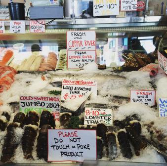 Seafood in Seattle Public Market