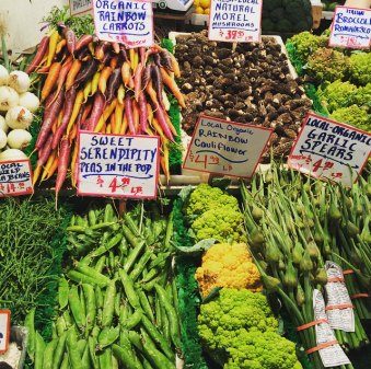 Vegetables in Seattle Public Market