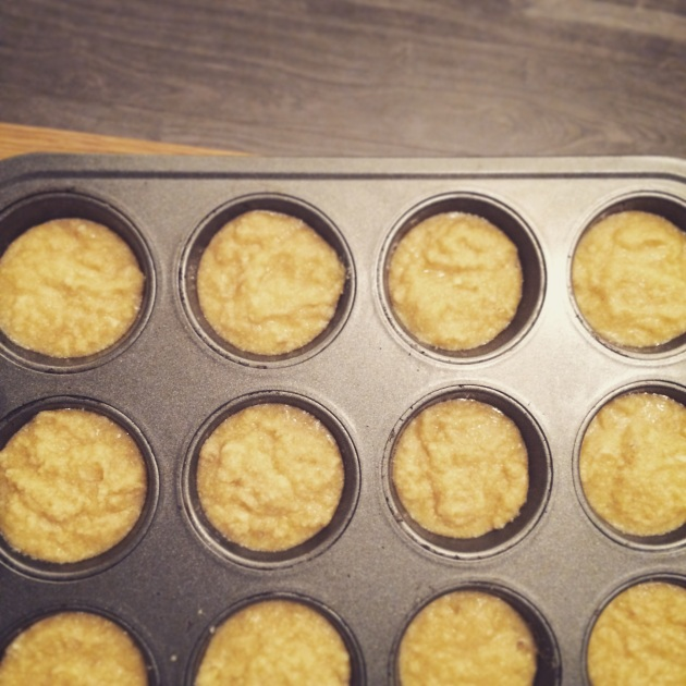 paleo strawberry shortcake in muffin tin