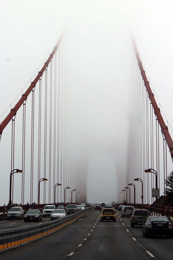 golden gate bridge fog, san francisco, california