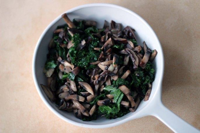 mushroom kale side dish