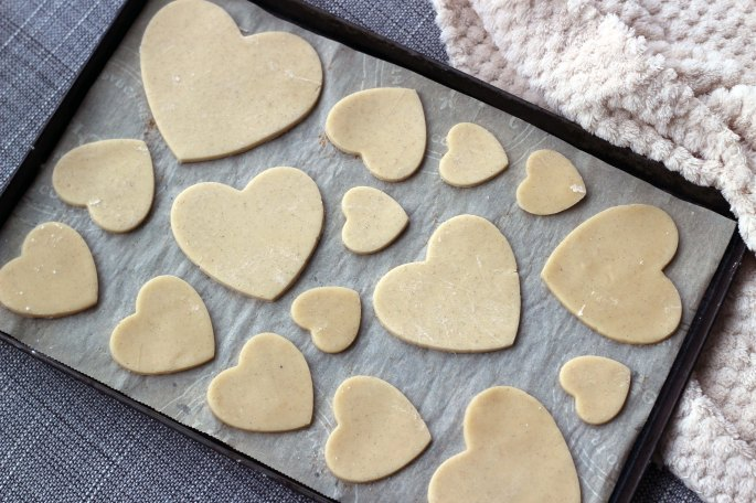 unbaked sugar cookies on baking sheet