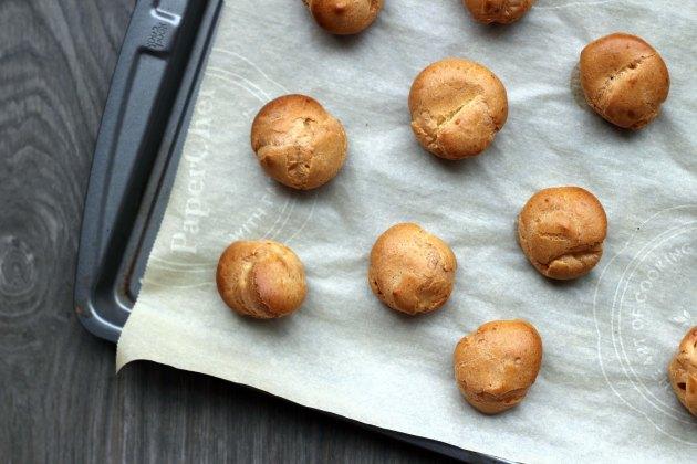 baked cream puff shells
