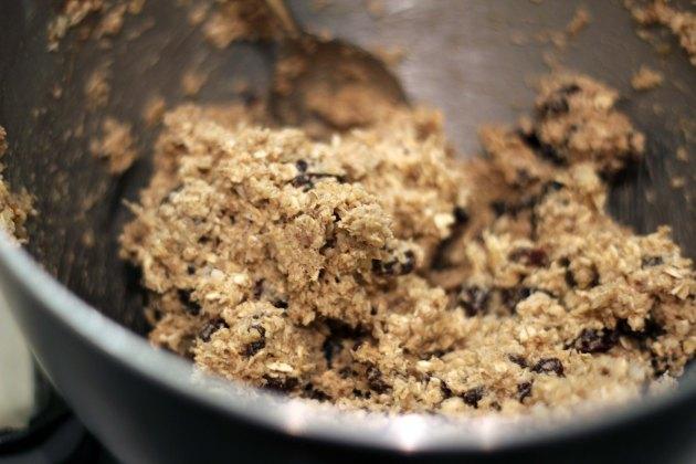 oatmeal raisin cookie batter