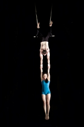 double trapeze hang