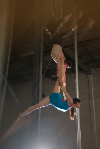 double trapeze split