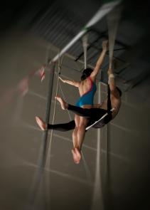 double trapeze hug drop