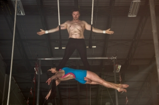 double trapeze sleeping beauty