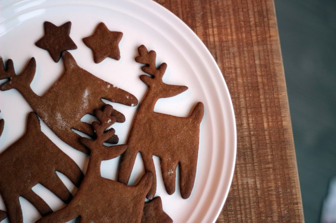 vegan gingerbread reindeer