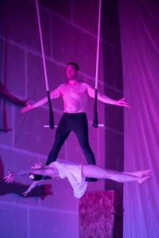 duo trapeze artists sleeping beauty