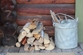 wood and kindling for campfire