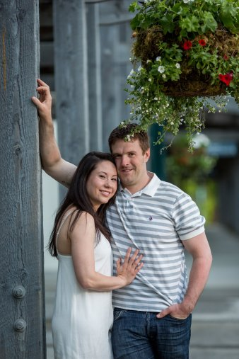 vancouver engagement photos at deer lake park