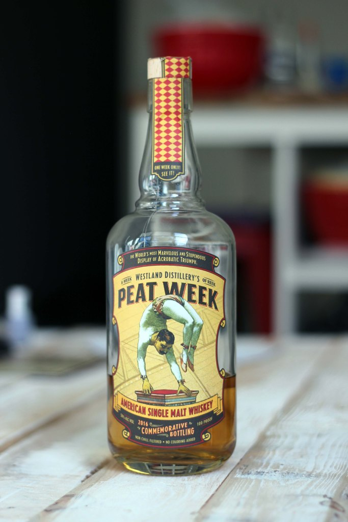 peat week whiskey bottle