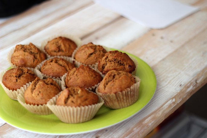 homemade whiskey banana bread muffins