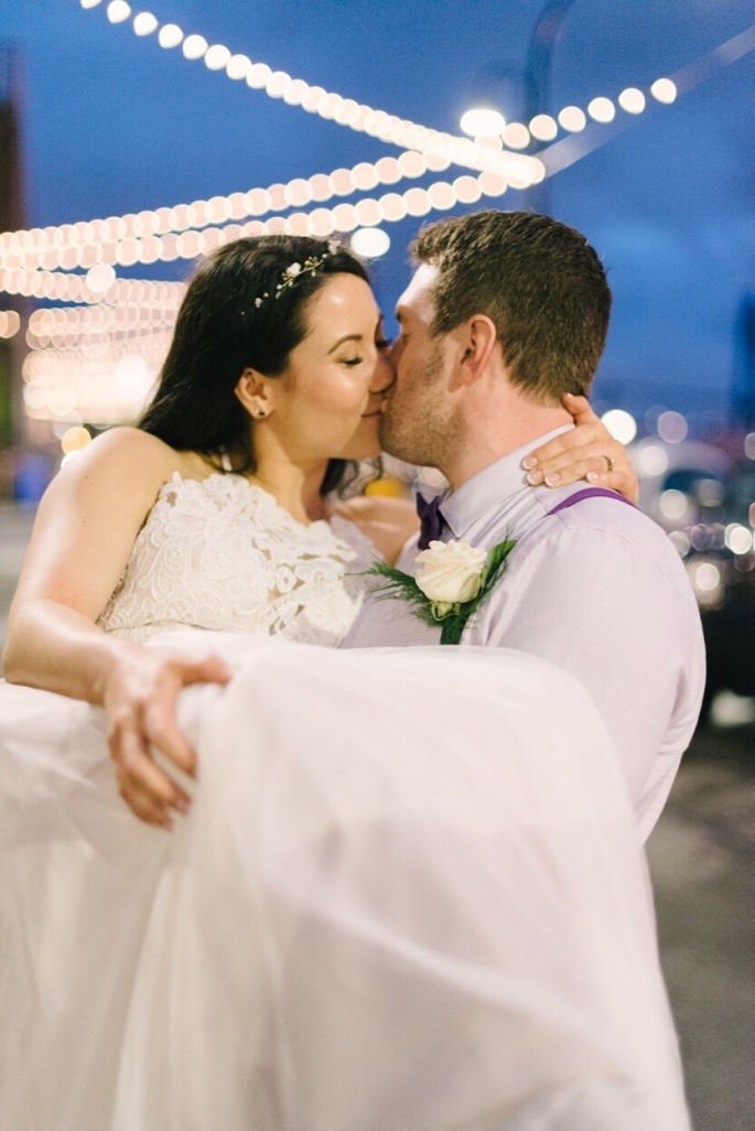 Front street new Westminster wedding photo